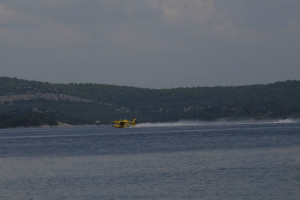 Croatia fireman plane