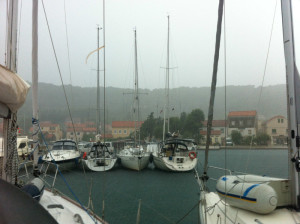 Croatia thunderstorm in Veli Iz